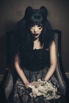 Elegant Gothic Lolita, Harajuku hairstyle color and makeup: La Carmina