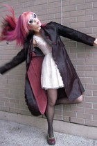 Romantic spring outfit, 2013. Pink hair alternative Goth Fashion, Harajuku color