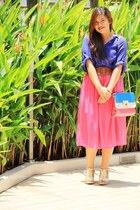 hot pink long skirt Jella skirt - hot pink candy bag Missy bag