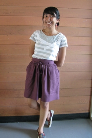 Valentino skirt - Charlotte Russe t-shirt - BC shoes shoes - Goodwill earrings
