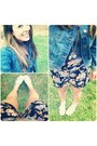H-m-shoes-denim-forever-21-jacket-black-urban-outfitters-shorts