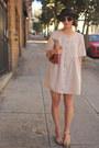 Beige-gingham-vintage-dress