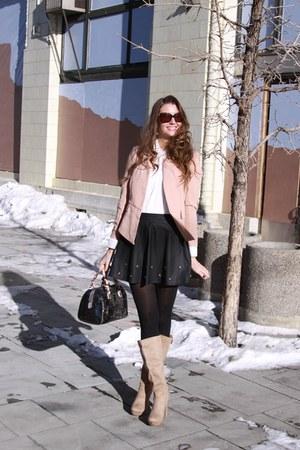 neutral peach blazer Aupieco blazer - ivory Boohoo shirt