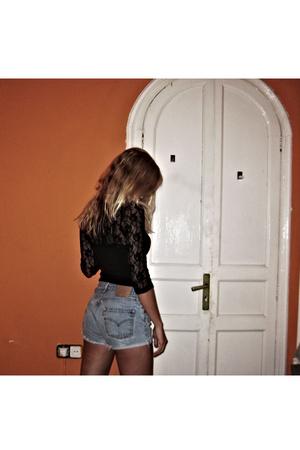 H&M top - vintage shorts