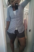 salvation army shirt - Walmart intimate - Old Navy shorts - Old Navy shoes