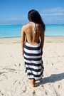 Blue-backless-stripe-ice-dress