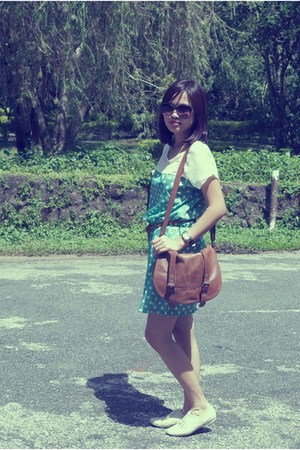 random brand dress - Cole Vintage shoes - Topshop sunglasses