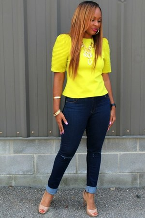 lime Trish M Fashions top - denim Trish M Fashions jeans