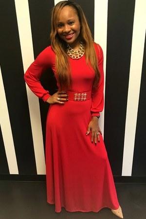 red Trish M Fashions dress