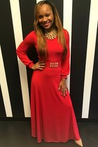 red Trish M Fashions dress