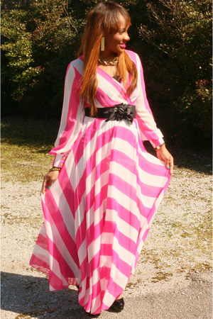 hot pink pink and white Dressed By An Angel Boutique dress