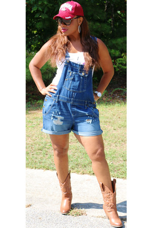 cowboy DSW boots - white Trish M top - denim Walmart jumper