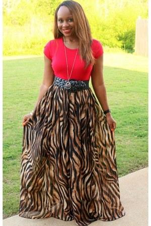 animal print Trish M Fashions skirt