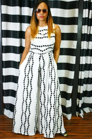 white and black Trish M jumper