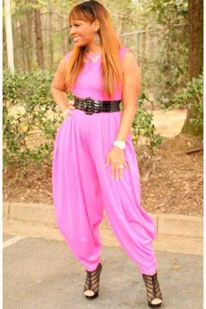 hot pink pink SB Boutique jumper - black black Aldo heels