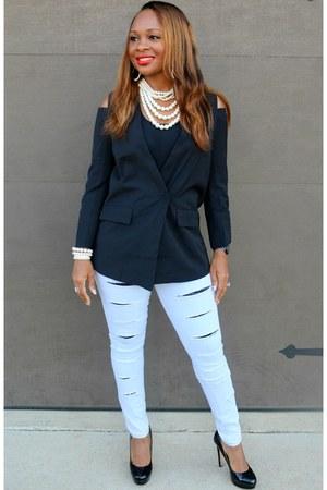 denim Trish M Fashions jeans - black Trish M Fashions blazer