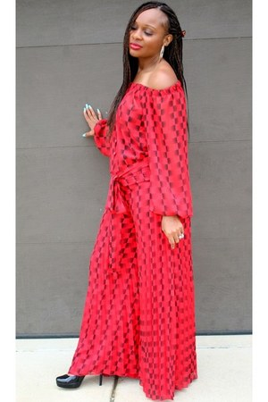 red red Trish M Fashions jumper