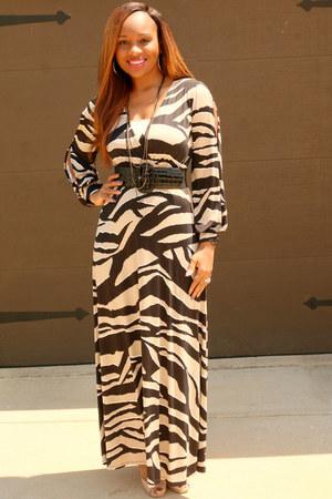 zebra print Trish M Fashions dress