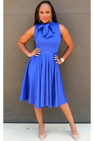 blue cobalt blue Trish M Fashions dress