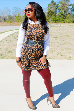 leopard print Body Central top - white Michael Kors shirt