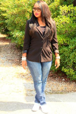 black black Dillards blazer - navy denim sears jeans