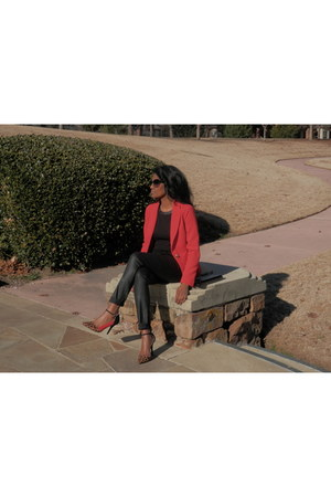 red Forever 21 blazer - black coated QMack jeans