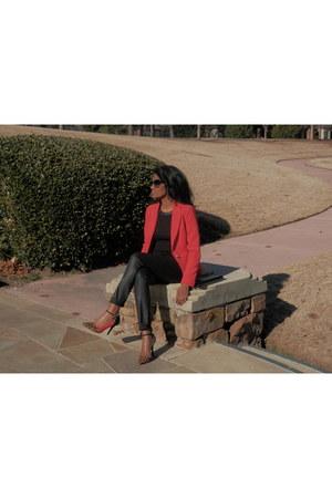 red Forever 21 blazer - black coated QMack jeans