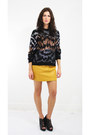 Sequin-cotton-vintage-sweater-leather-vintage-skirt