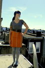 Gray-mossimo-shirt-orange-thrifted-gap-skirt-gray-forever-21-tights-brown-