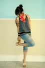Gray-unknown-brand-top-blue-h-m-jeans-red-thrifted-scarf-black-thrifted-an