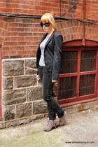 Heritage 1981 shirt - Express Design Studio blazer - H&M jeans - Anne Michelle s