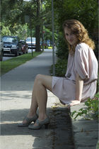 pink wilfred dress - gray Browns shoes - silver Shag Wear necklace