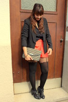 asos shoes - Pimkie jacket - Topshop tights - christian dior bag - H&M shorts