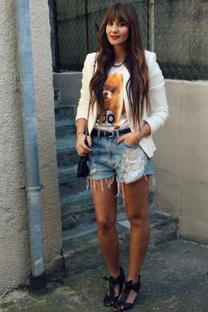 Zara blazer - asos sandals - Urban Outfitters t-shirt