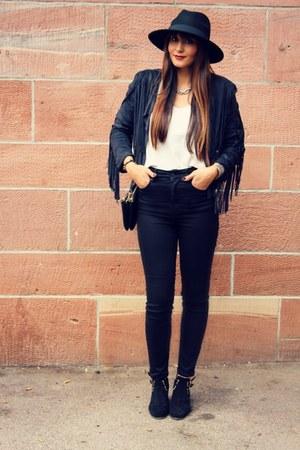 H&M hat - Sheinsidecom jacket - asos pants