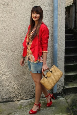 pullandbear jacket - H&M shorts - Sheinsidecom blouse
