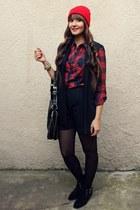 Zara shorts - Mango vest - c&a blouse