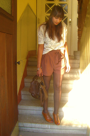 H&M shorts - Pimkie shirt - Promod wedges