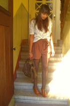 H&M shorts - Pimkie shirt - Promod wedges