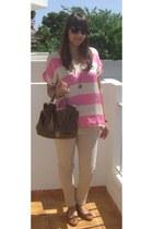 Zara t-shirt - Pimkie bag - Zara pants