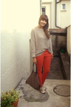 Zara pants - brandy&melville sweater - ovs bag
