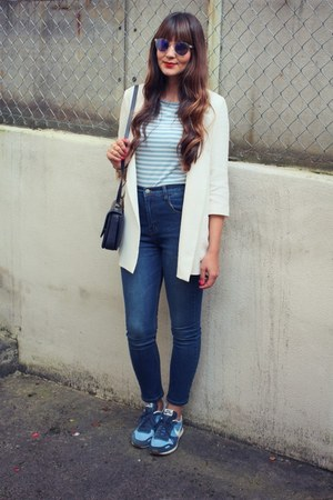 Zara blazer - Zara bag - nike sneakers
