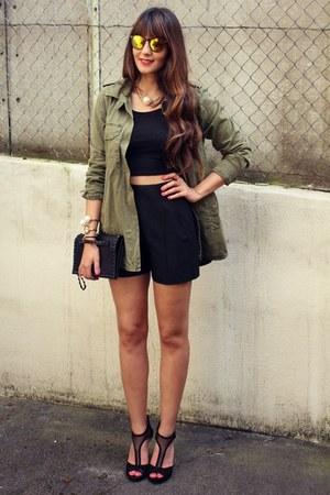 Zara jacket - H&M t-shirt - Jessica Simpson heels
