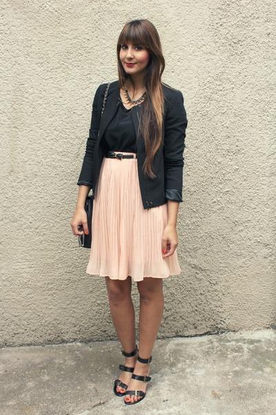 chicnovacom skirt - Promod jacket - Pierre Cardin sandals - Primark belt