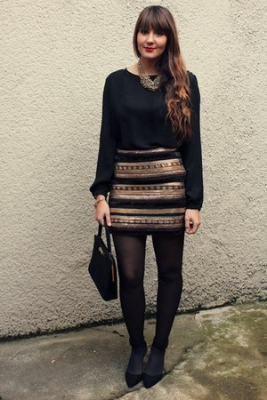 Vero Moda skirt - Zara blouse