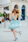Sky-blue-sinéquanone-dress-sky-blue-zara-heels