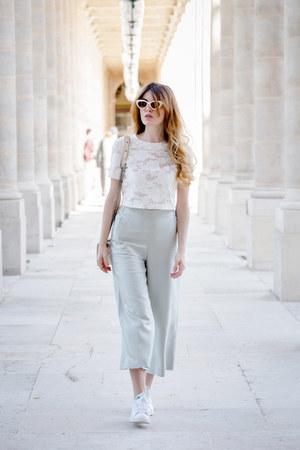 Adidas shoes - Mango pants - H&M top