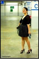 custom made skirt - Armani Exchange top - Janylyn shoes - CMG purse