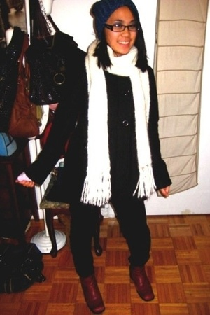 hat - forever 21 coat - jeans - forever 21 scarf - aerosoles boots