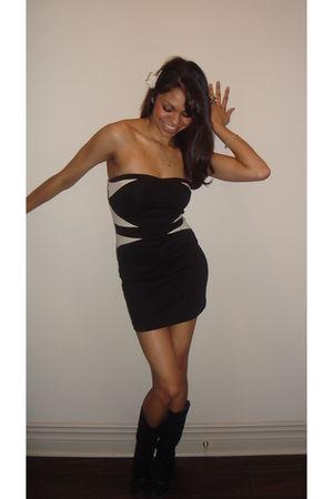 black Forever 21 dress - black Aldo boots